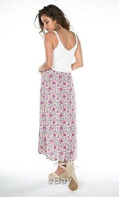 Arnhem / Kauai Maxi Skirt in Pearl Size 10AU Boho Beach Gypsy Festival