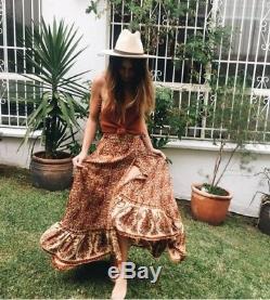 Arnhem / Wild Magnolia Wrap Skirt in Indian Dusk Size 8AU Gypsy Boho Festival