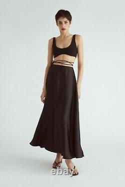 Authentic Orseund Iris Ballerina Maxi Skirt Black & Camel. Available in XS-M