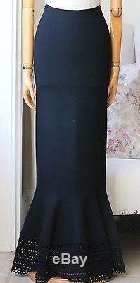 Azzedine Alaia Cut-out Maxi Flare Skirt Uk 8