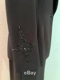 BADGLEY MISCHKA Formal 3 Pc Suit Gown Jewels Long Skirt Cocktail Sz 10