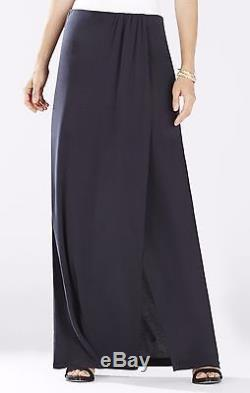 BCBG MAXAZRIA Fashion Women's Sexy Cut Open Andreea Long Maxi Skirt Black