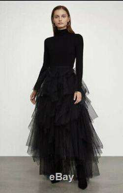 BCBG Max Azria Camber Layered Tulle Maxi Skirt S $398