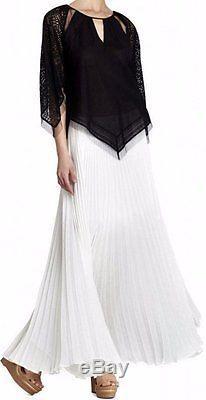 BCBG NWT Esten White Pleated Party Skirt New S SJG3D155