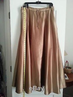 BEAUTIFUL CHAMPAGNE COLOR! Ralph Lauren'Elizabeth' Heavy Satin Skirt (Large)