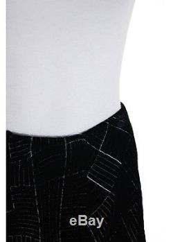 BILL BLASS Black Quilted A Line Maxi Skirt Sz 10