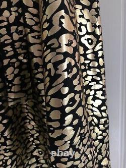 BNWOT Kemi Telford Gold Foil Leopard Print Skirt, Size L, Maxi