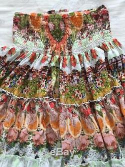 BNWT Limited Edition RRP $799 CAMILLA SAMBA SALADA TIERED MAXI SKIRT DRESS