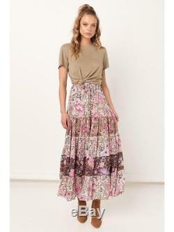 BNWT Spell Designs Daisy Maxi Skirt Lilac Size S