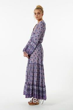 BNWT Spell Designs KOMBI BUTTON DOWN MAXI SKIRT Lavender Size XS