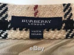 BURBERRY LONDON Tan Nova Check Plaid A-Line Maxi Skirt Size 2-4