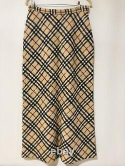 BURBERRY Wool Maxi Skirt. EU 12 US 8/6