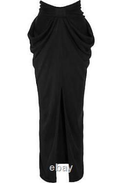 Balmain Draped Jersey Maxi Skirt Fr 38 Uk 10