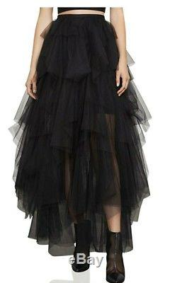 Bcbg Max Azria Camber Tiered Maxi Skirt Size Medium Retail $398