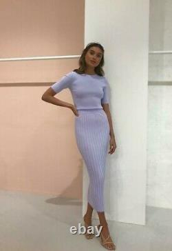 Bec + Bridge Eden Pleated Lilac Maxi Skirt Size 8 SOLD OUT