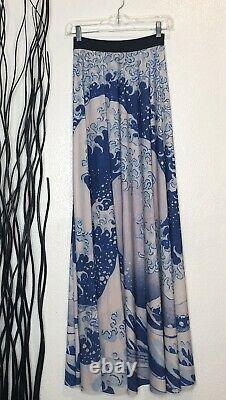 Black Milk Japanese Style Great Wave Pattern Maxi Skirt Size M
