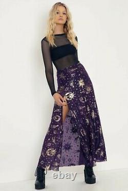 Blackmilk Burned Velvet Sun And Moon Split Maxi Skirt Limited XL X-Large NEW