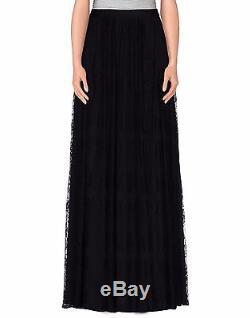 Blugirl Blumarine Black Lace Maxi Long Skirt