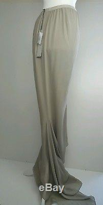 Bnwt Rick Owens long maxi fishtail skirt. Silk. Sz 42/uk 10. £610