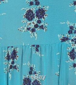 Brand New Veronica Beard Serence floral long silk maxi skirt size 10