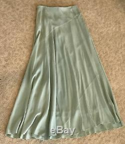 Brooks Brothers Pale Green Maxi Long Skirt Womens size 6 NWT $498 retail