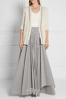 Brunello Cucinelli Long Maxi Skirt Cotton blend sz L NWT $ 1775 + tax