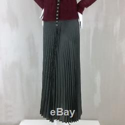 Brunello Cucinelli Women Wool High Waisted Micro Pleated Long Maxi Skirt Size XS