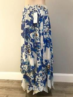 CAMILLA FRANKS Ring Of Roses Silk Skirt S NWT