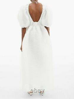 CECILIE BAHNSEN Lola Off White Cream Puff Sleeve Top Skirt Maxi Wedding Dress