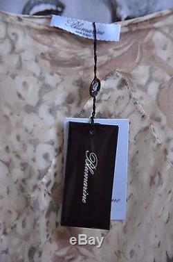 Celebrity Skirt Blumarine Extra Long, Silk Pastel Flower Pattern Ruffles 10