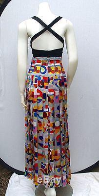 Chanel 14k Most Coveted Print 2014 Vibrant Silk Pleats Maxi Skirt-38 New