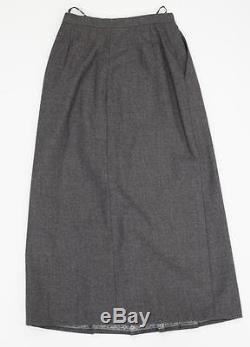 CHANEL Womens VINTAGE Classic Gray Pleated A-Line Long Maxi Skirt XXS