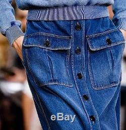 CHLOE Runway Demim Maxi Skirt, Sz 36/US