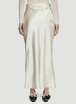 COLLINA STRADA NEW $310 Yod White Ivory Garmentory Silk Midi Maxi Dress Skirt S