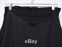 COMME DES GARCONS Sheer Wool Panel Black Minimalist Maxi Long Skirt Sz S