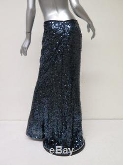 Calvin Klein Sequin Maxi Skirt Blue Size 10