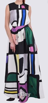 Camilla & Marc Stealing Beauty Skirt White Black Pink 8 S Print Maxi Long Tall