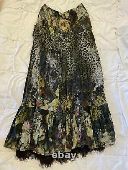 Camilla Maxi Skirt with Leopard Print and Lace Size 2 in great condition