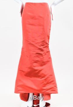 Carolina Herrera Coral Pink Mermaid Evening Skirt SZ 4