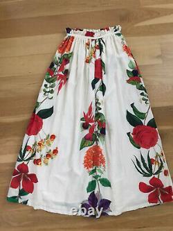 Carolina KGloria Paper Bag Floral Cotton-Blend Maxi Skirt Sz Small NWT