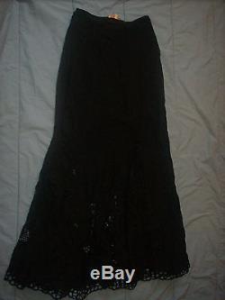 Catherine Malandrino long back embroidered skirt gorgeous