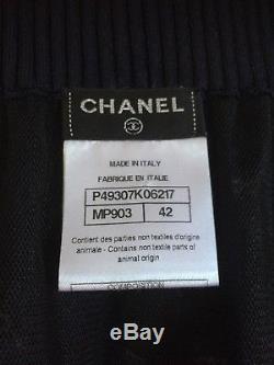 Chanel 14P NEW AMAZING Blue Ecru Bow SKIRT FINE TULLE Lining FR42-FR38 $7K