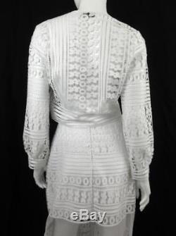 Charo Ruiz Ibiza White Crochet Lace 3 Piece Maxi Skirt, Top & Jacket Set Sz. S