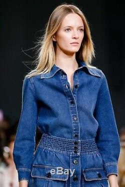 Chloe Sold Out Brand New Outstanding Denim Combo Maxi Skirt+shirt! So Flawless