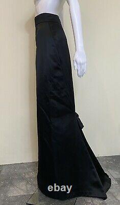 Christian Lacroix Fall 2008 25 waist maxi skirt black silk bow