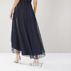 Coast April Organza High Low Navy Skirt Size UK 12 18