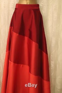 Coast Red Colour Block Long Hem Stripe Maxi Party Wedding Flare Full Skirt 8 36