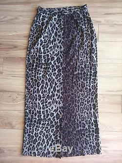 DOLCE & GABBANA Rare VTG Silk Sheer Leopard Print Maxi Skirt Size M IT 40/US 6