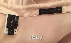 DONNA KARAN Pink Silk Maxi Skirt Asymmetrical Drape US 6 Small IT 42 $1,105