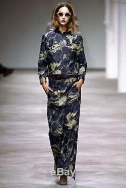DRIES VAN NOTEN Runway Spring 2013 long printed skirt size 36